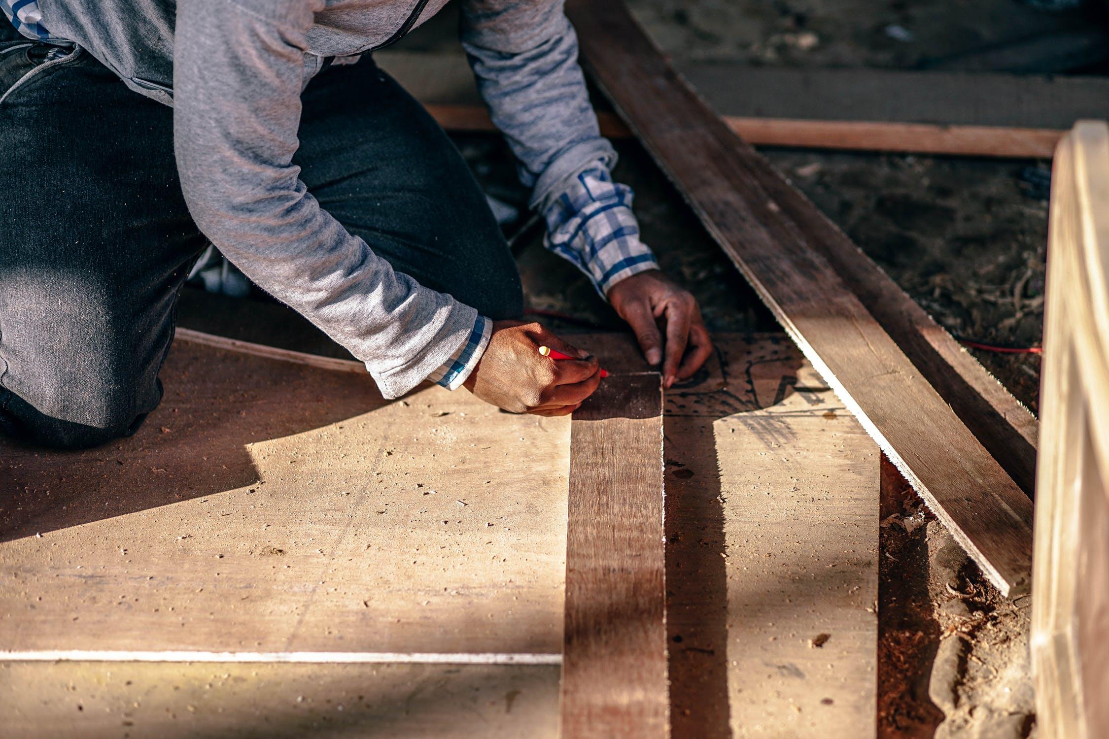 Plantenbak van hout maken